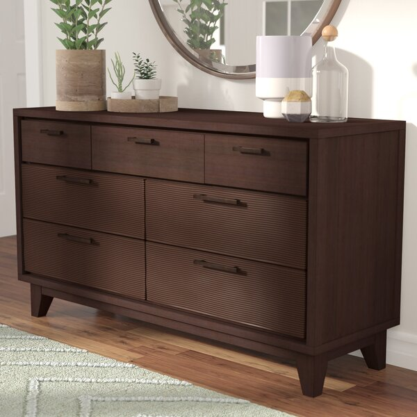 Cornwall 7 Drawer Dresser with Mirror by Langley Street