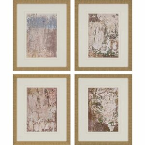 'Vestige III' by Inspire Studio 4 Piece Framed Painting Print Set by Paragon