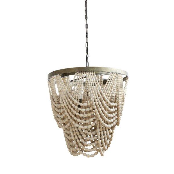 Wood bead chandelier wayfair aloadofball Gallery