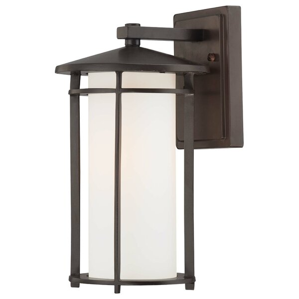 Bradshaw 1-Light Outdoor Wall Lantern by World Menagerie