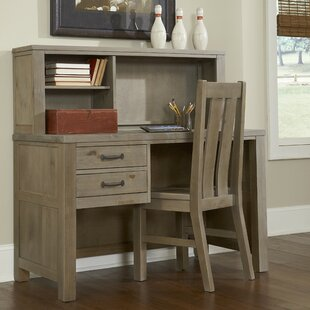 Deals Bedlington Writing Desk with Hutch and Chair Set By Greyleigh