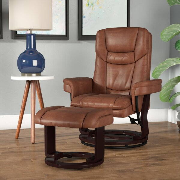 Eudy Manual Swivel Recliner with Ottoman [Latitude Run]