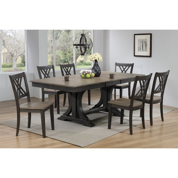 Kathie 7 Piece Solid Wood Dining Set