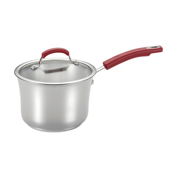 3.5 Qt. Stainless Steel Saucepan with Lid by Rachael Ray