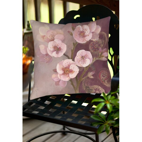 Gypsy Blossom 2 Indoor/Outdoor Throw Pillow by Manual Woodworkers & Weavers