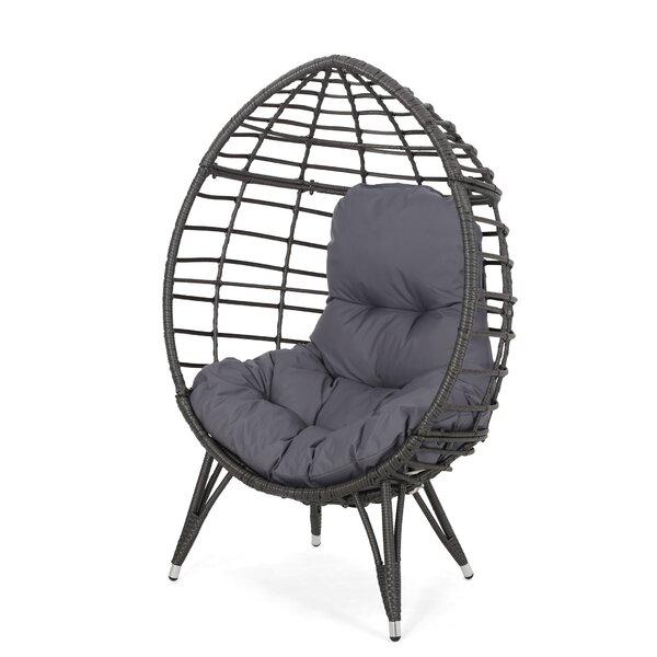 Castaic Wicker Teardrop Swing Chair by Bloomsbury Market Bloomsbury Market