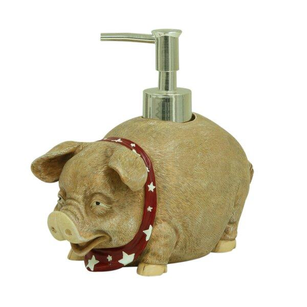 Oscar the Pig Lotion Dispenser by Bacova Guild