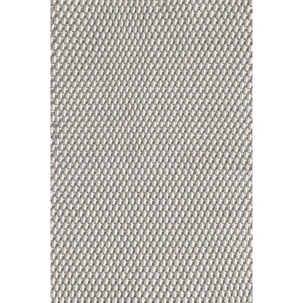 Two-Tone Rope Hand-Woven Platinum/Ivory Indoor/Outdoor Area Rug by Dash and Albert Rugs