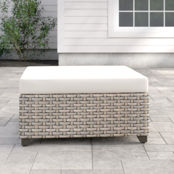 Rochford Outdoor Ottoman with Cushion by Sol 72 Outdoor