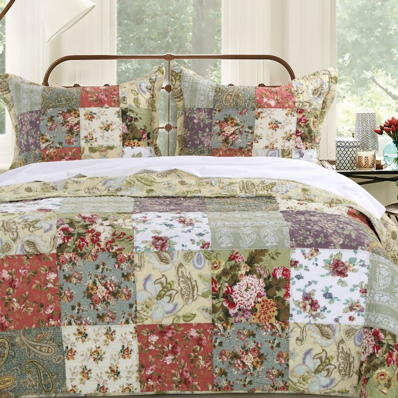August Grove Bauer Cotton Reversible Quilt Set & Reviews | Wayfair : cotton quilts - Adamdwight.com