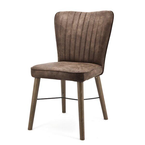 Velvet Side Chair In Brown By LIVIA