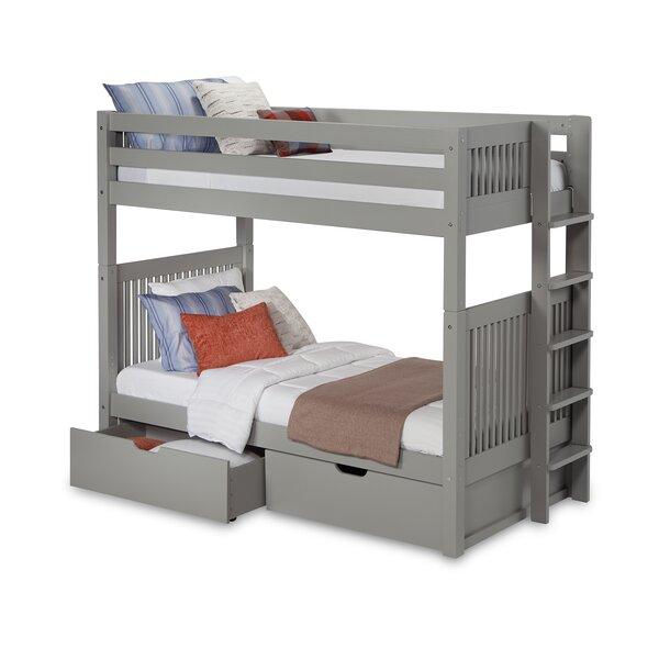 Rabon Twin over Twin Bunk Bed with Drawer by Harriet Bee