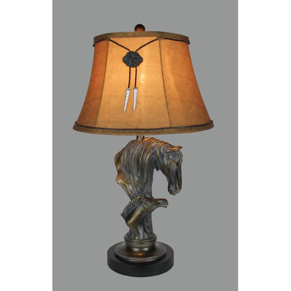 Rosa Horse and Colt 29 Table Lamp by Millwood Pines