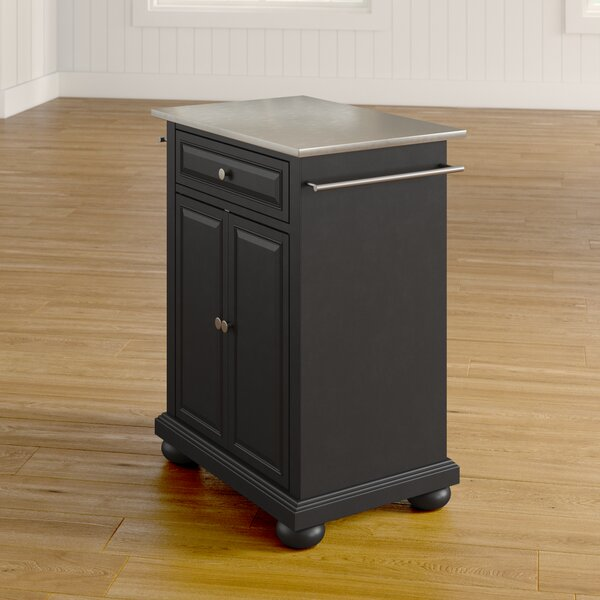 Fresh Hedon Kitchen Cart With Stainless Steel Top By Three Posts Sale