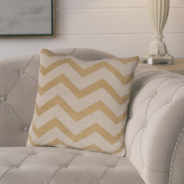 Elbert Wave Linen Throw Pillow by Gracie Oaks