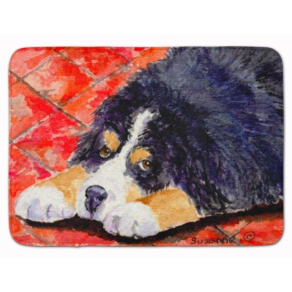 Bernese Mountain Dog Rectangle Microfiber Non-Slip Bath Rug