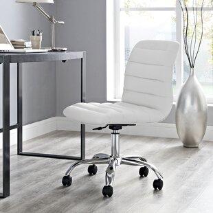 Bon Armless White Office Chairs Youu0027ll Love | Wayfair