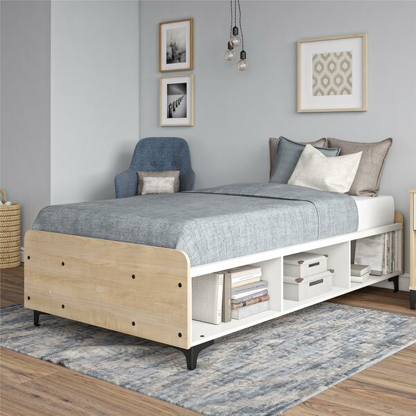 Karan Twin Platform Bed with Shelves by Isabelle & Max