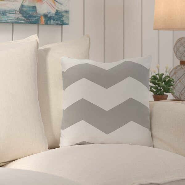 Shrewsbury Chevron Stripes Geometric Outdoor Throw Pillow by Breakwater Bay