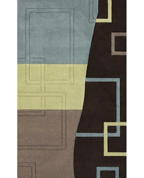 Berkey Hand-Woven Brown Area Rug by Brayden Studio