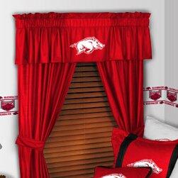 NCAA 88 Arkansas Razorbacks Curtain Valance by Sports Coverage Inc.