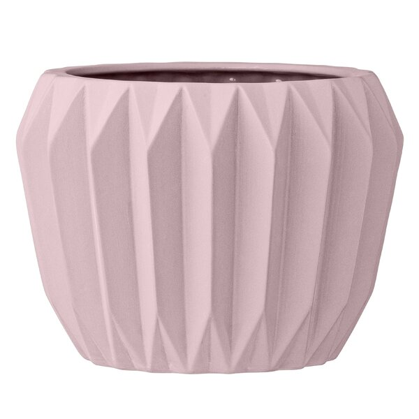 Claudius Fluted Ceramic Pot Planter by Langley Street