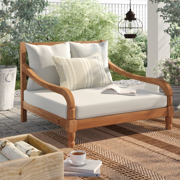 Wiest Patio Daybed with Cushions by Birch Lane™ Heritage