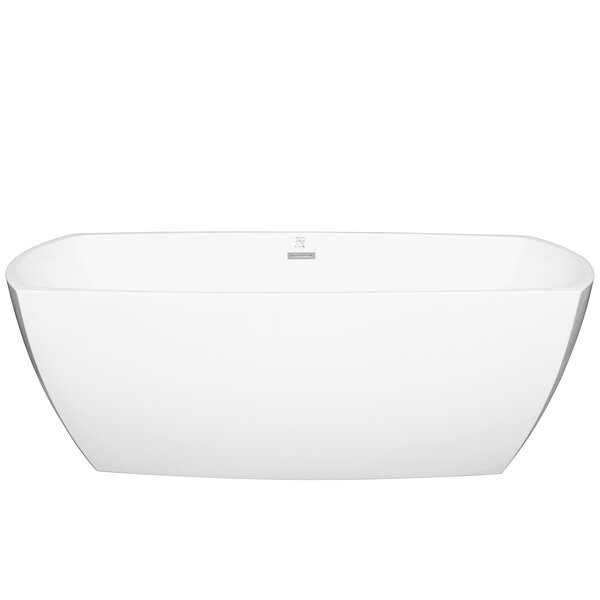 Acrylic Oval 69 x 29.5 Freestanding Soaking Bathtub by AKDY