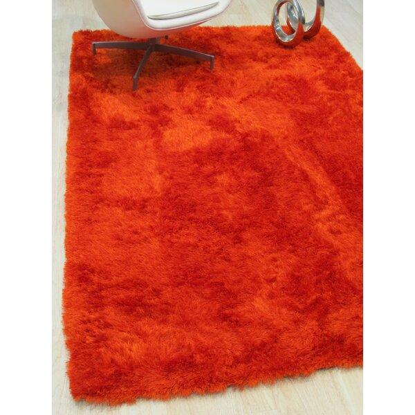 Pearman Hand-Woven Orange Area Rug by Latitude Run