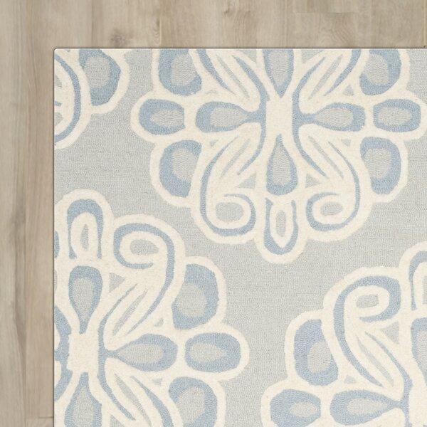 Arana Hand-Tufted Gray/Blue Area Rug by Highland Dunes