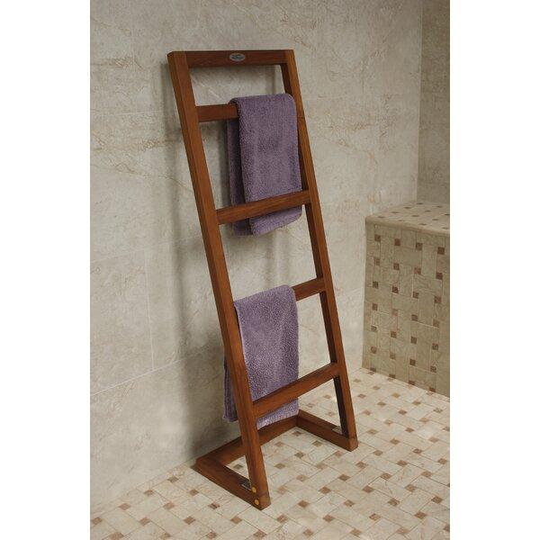 Angled Free Standing Towel Stand by Aqua Teak