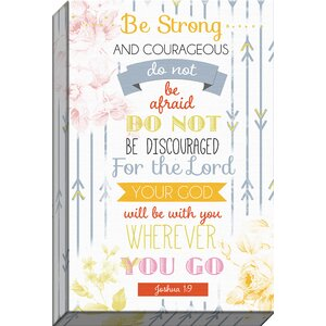 Trendy Typography 'Be Strong' Textual Art on Wrapped Canvas by Carpentree