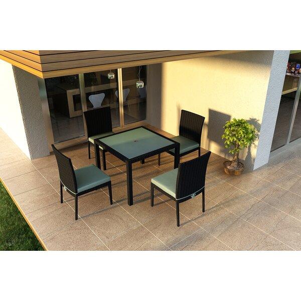 Urbana 5 Piece Sunbrella Dining Set with Cushions by Harmonia Living