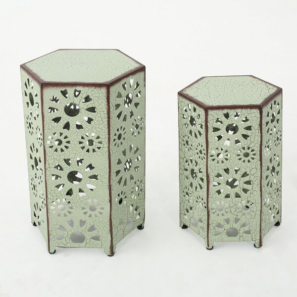 Crepeau 2 Piece End Table by Bungalow Rose Bungalow Rose