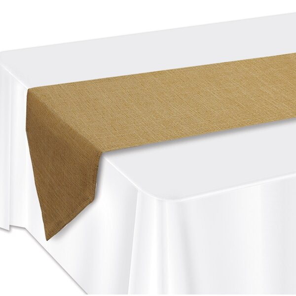 Faux Burlap Table Runner by The Beistle Company