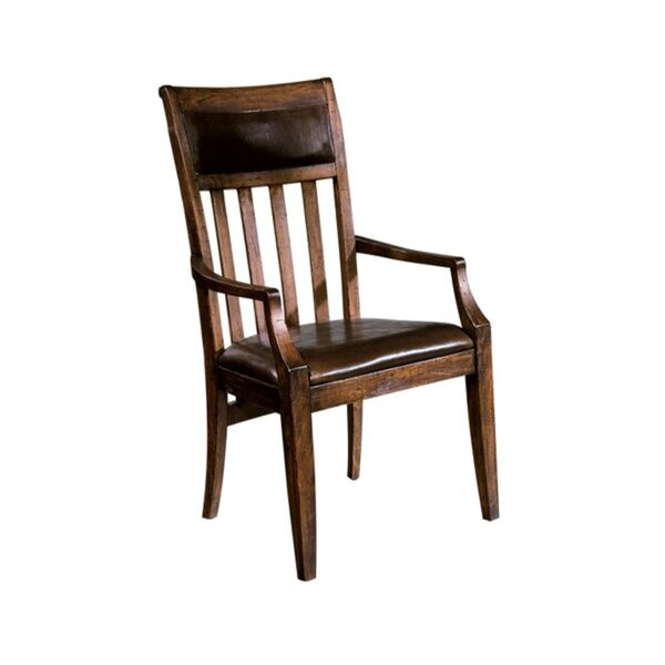 Montanez Upholstered Slat Back Arm Chair By Longshore Tides