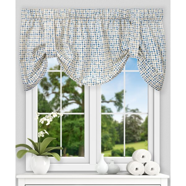 Brandon Ikat Check Tie-up 60 Curtain Valance by Langley Street