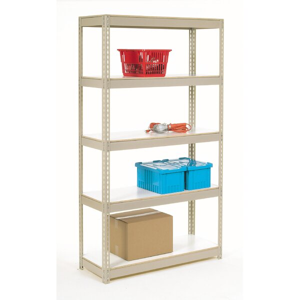 Melamine Laminate Rivet Lock 5 Shelf Shelving Unit by Nexel