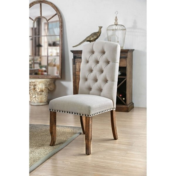 Emmalee Tufted Upholstered Parsons Chair in Gray (Set of 2) by Gracie Oaks Gracie Oaks
