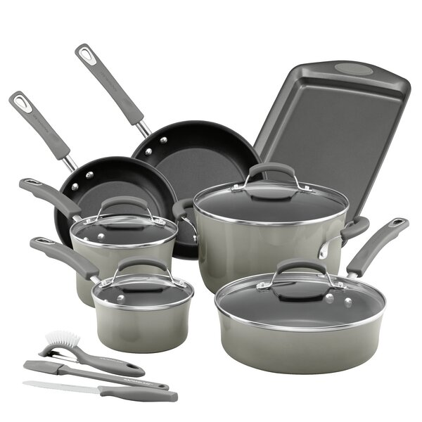 14 Piece Non-Stick Cookware Set (set Of 14) By Rachael Ray.