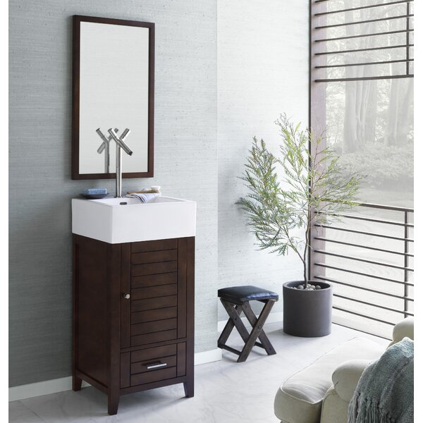 Elise 18 Single Bathroom Vanity Set with Mirror by Ronbow