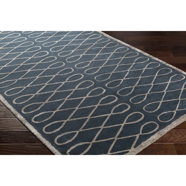 Cheshire Hand-Tufted Blue Area Rug by Breakwater Bay