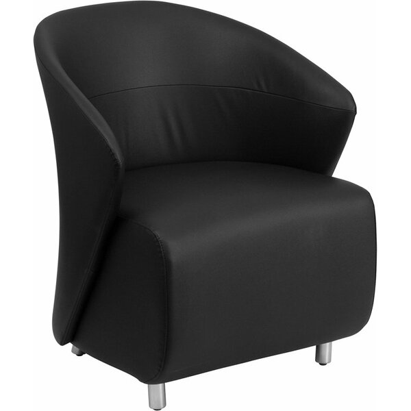 Wheatley Leather Lounge Chair by Orren Ellis