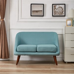 Caterina Modern Style Loveseat by Langley Street
