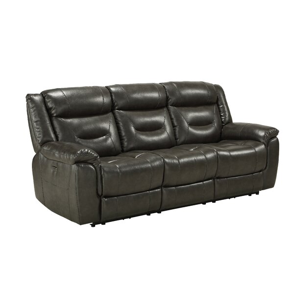 Deals Price Smither Genuine Leather Reclining 87