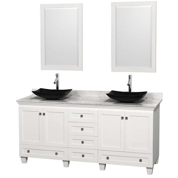 Acclaim 72 Double Bathroom Vanity Set with Mirror