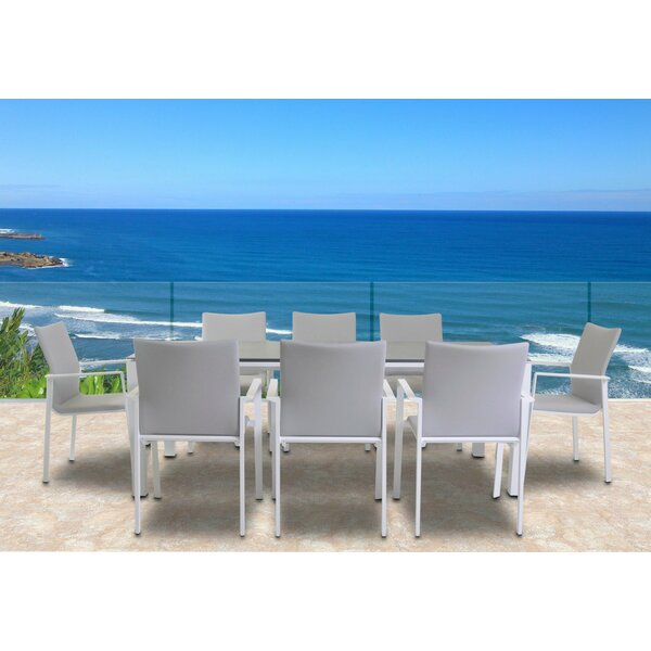 Farrer 9 Piece Dining Set by Orren Ellis