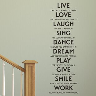 Live Love Laugh Quote Simple Live Laugh Love Wall Decal  Wayfair