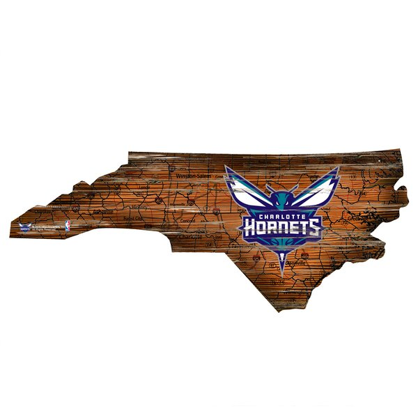 NBA Hornets Distressed State Wall Décor by Fan Creations