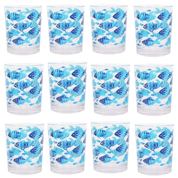 Cullison Fish DOF 14 oz. Cocktail Glass (Set of 12) by Rosecliff Heights